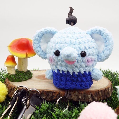 棉花糖动物钥匙包-大钥匙包(大耳朵大象)