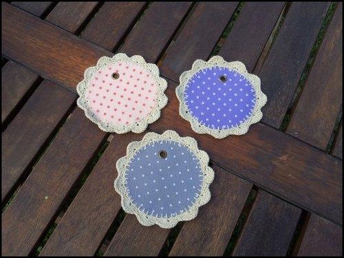 编织不织布杯垫 - 非玩布可-手作布杂货