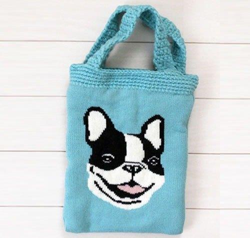 手工毛线编织动物系列手提包/散步溜狗包/小托特包【现货即出货,无