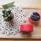 maste Masking Tape 和紙膠帶 Basic 亮彩明色系【素色紅 (MST-MKT01-RE)】