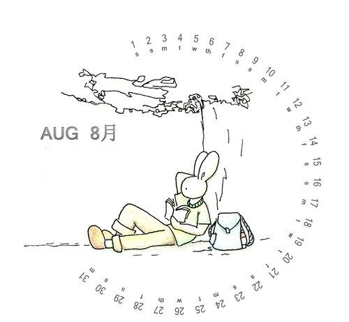 手绘月份日历简笔画