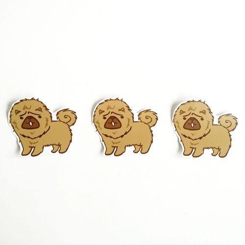 1212玩樂設計 逗趣到處貼 防水貼紙-鬆獅犬