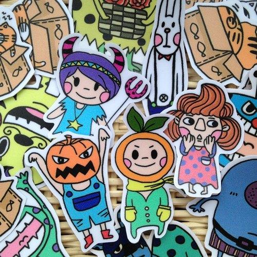 Leep-可愛手繪貼紙