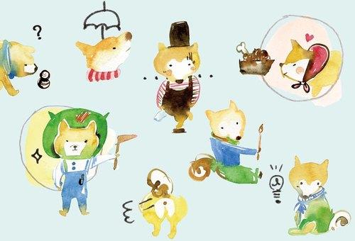 柴犬明信片 - 57号小画屋   pinkoi