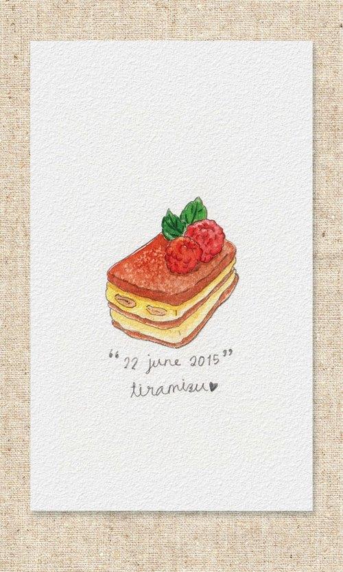 手绘食物菜单卡片