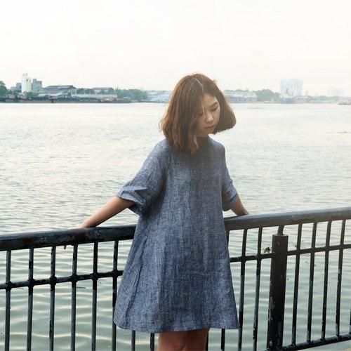 可愛A字連身裙 (蝶豆花色)