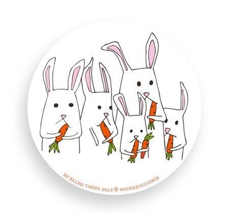 微信 头像 动物 2016兔子吃胡萝卜展示