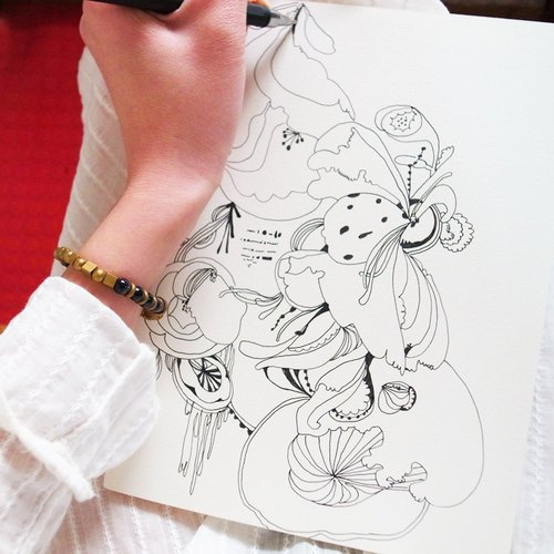 纸质笔记本素材 手绘