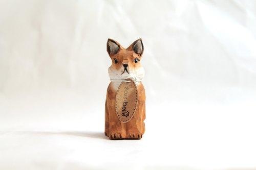 suss-英国复古手工木头雕刻削铅笔机/削笔器(狐狸造型