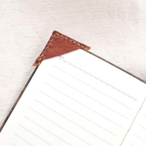 鹿皮三角皮書籤