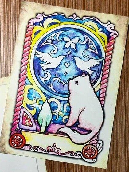 明信片● 绿绿亚&小动物系列--小猫咪