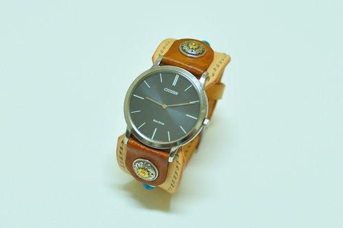 皮手表带怎么拆卸图解