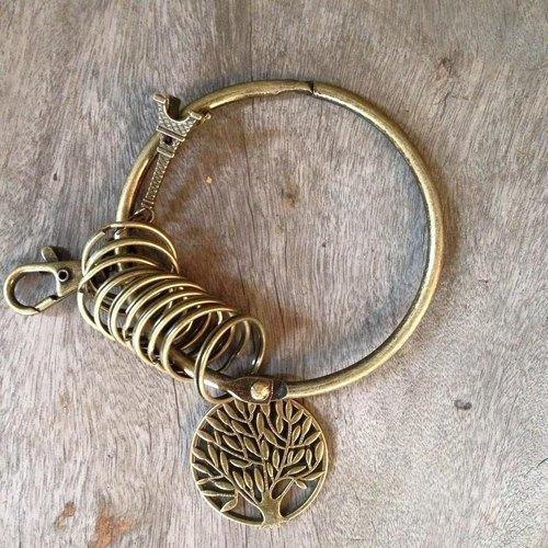 鑰匙圈/仿舊復古守門人大鑰匙圈-生命之樹
