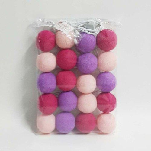 粉紅色系棉質球球燈(粉紅、紫、桃紅)