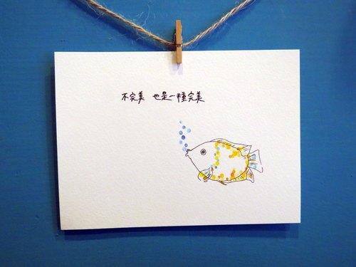 动物/ 亲嘴鱼/ 手绘 / 卡片 明信片