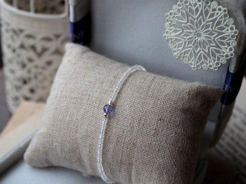 Journal 降雪之約 / 丹泉石、月光石、純銀手鍊