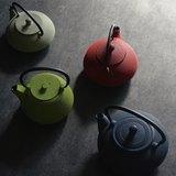 【新品】CB-TEKKI系列鑄鐵急須泡茶壺0.9L 林(綠)