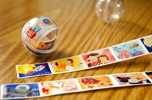 Dear You 郵票貼紙 ( 12枚 ) / 時空膠囊貼紙球