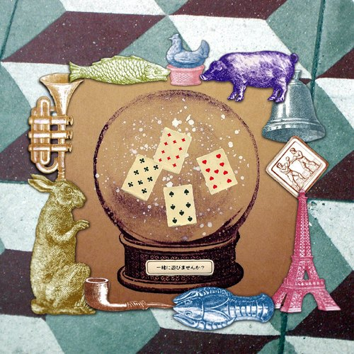 ✡小場景 - 小雪花球✡ 單枚 手繪牛皮紙插畫貼紙