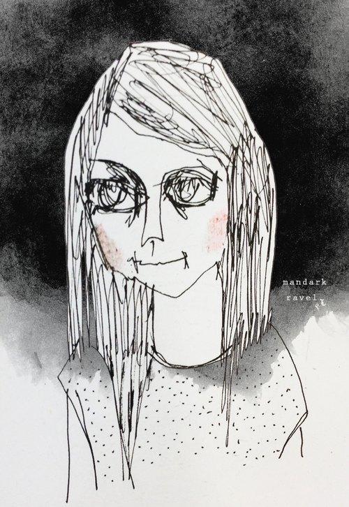 手绘|一个人过生活|明信片|八张