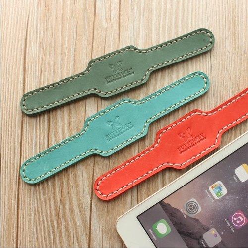 【Butterfly 手作皮件】皮繽紛色系革手環,附晶片悠遊卡功能(免費烙印服務)。