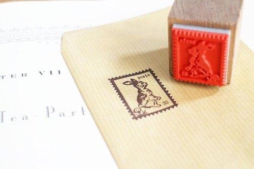 好評加售】兔子郵票 木頭印章