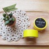 maste Masking Tape 和紙膠帶 Basic 亮彩明色系【素色黃 (MST-MKT01-YE)】