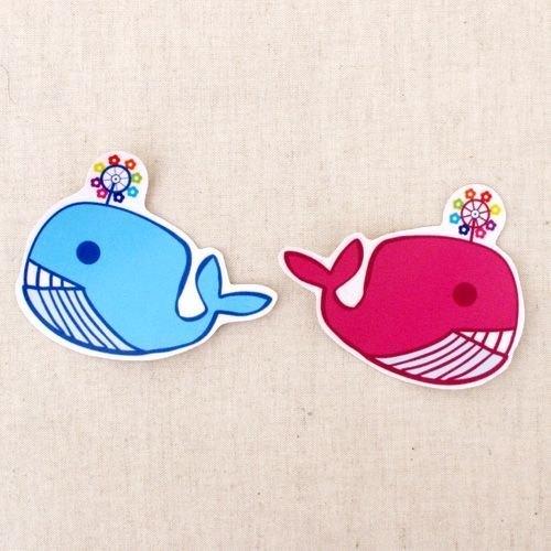 逗趣到處貼防水貼紙-小鯨魚情花開 - 1212tw | Pinkoi
