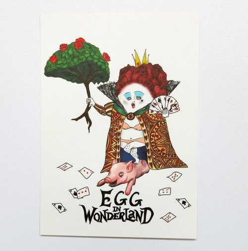 [明信片] egg in wonderland-红皇后