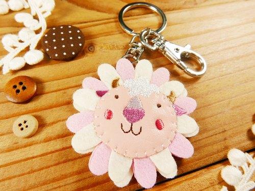 可爱动物刺绣钥匙圈-绵羊
