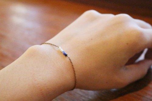 尖晶石-雙數燒 黃銅手鍊 (0380)