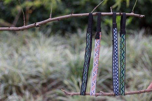 #Turquoise 細版 織帶型 髮帶 髮箍 :::Triangle系列:::