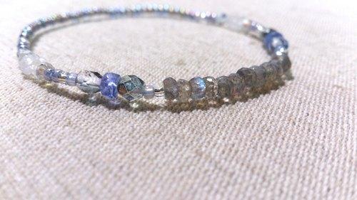 crystal in dearsharka || 拉長石 x 丹泉石 x 藍暈月光石.靜詠悅心的深邃魅力