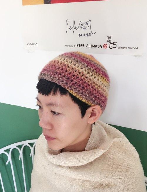 手工编织进口缎染彩色圆帽 - 海边的司厨 杂货
