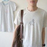 男生女生:米白軟棉圓領t-shirt ♦ 我的雪納瑞 / 星星小鹿 /