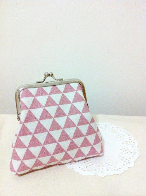 【针仕事】几何三角口金包