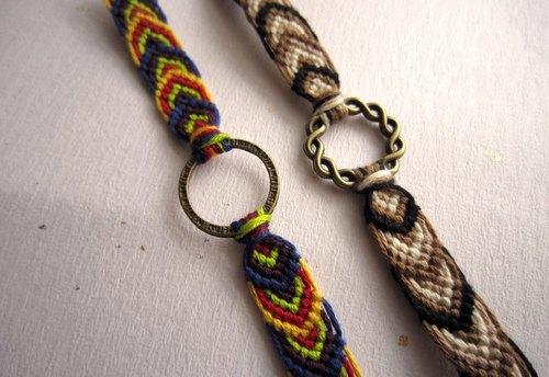 幸福叶子 幸运绳编织手环 (可选色)