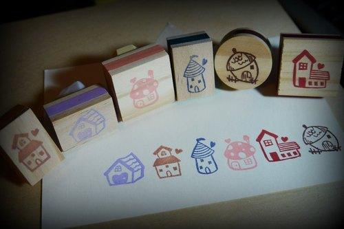希望这么一个小巧可爱的小房子印章可以温暖你的心~ 可以盖在手帐上