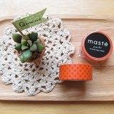 maste Masking Tape 和紙膠帶 Basic 復古暖色系【橘紅小水玉 (MST-MKT05-OR)】