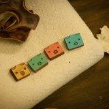 我愛動物園系列--熊熊平貼耳環(2入)