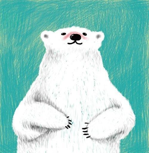 橡皮泥手工制作白熊