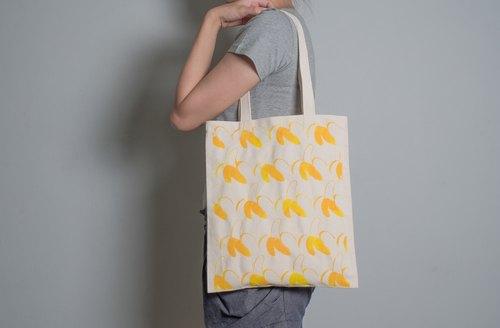 Designers 手繪手印 胚布提袋【香蕉】單面/雙面 手提/肩背