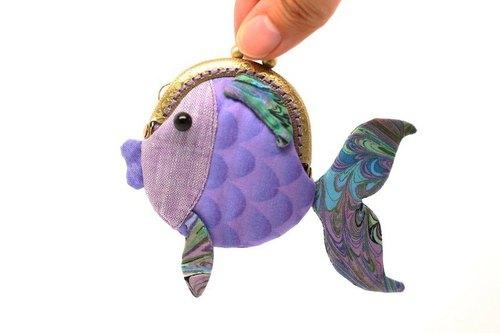 迷你金鱼口金(紫)