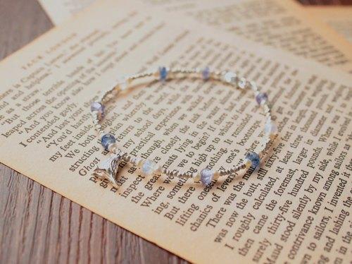 Journal 幸福的青鳥 / 丹泉石、藍晶石、月光石、純銀 手鍊手環