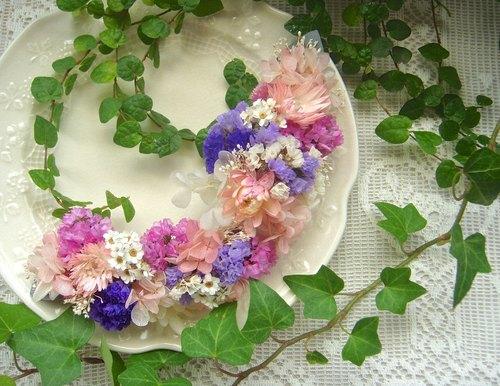 新娘頭飾 乾燥花混永生花 婚紗外拍 婚禮 寫真集