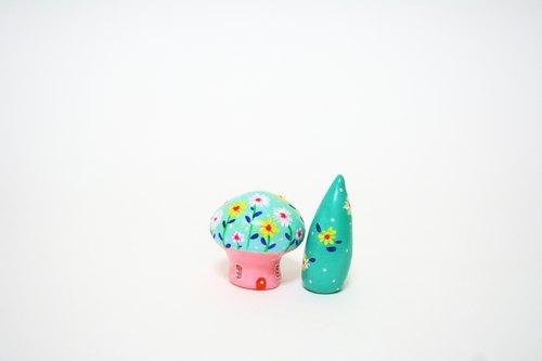 little house 小房子 -- 英式乡村 春氛 蘑菇屋/ 花语绿杉树 组合