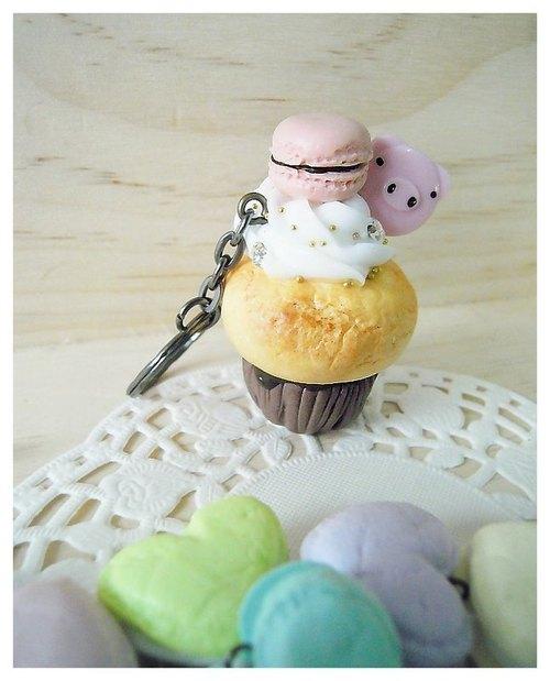 【下午茶-杯子蛋糕系列】 mini 小粉红马卡龙.小猪猪ㄉ最爱