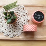 maste Masking Tape 和紙膠帶 Basic 復古暖色系【橘紅黃格紋 (MST-MKT05-SPK)】