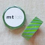 mt 和紙膠帶 fab 植絨系列【斜紋款 淺綠+苔綠(MTFL1P17)】