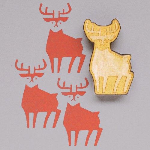 【印章】手绘插图印章鹿